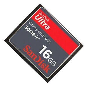 SANDISK-16gb-Ultra-30mb-Segundos-CompactFlash-CF-tarjeta-de-memoria-sdcfh-016g