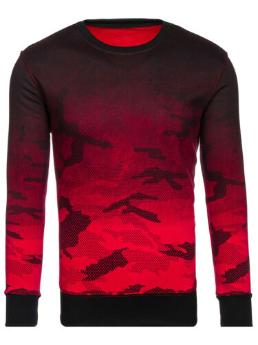 Messieurs Sweat-shirt chemise manches longues Pull Pull Camo Army Col Rond BOLF 1a1 Motif