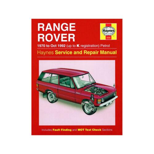 up to K Reg Haynes Manual 0606 Range Rover V8 3.5 3.9 Petrol 1970-92