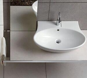 Sanitari bagno Nido lavabo 62 cm da appoggio o sospeso in ceramica ...