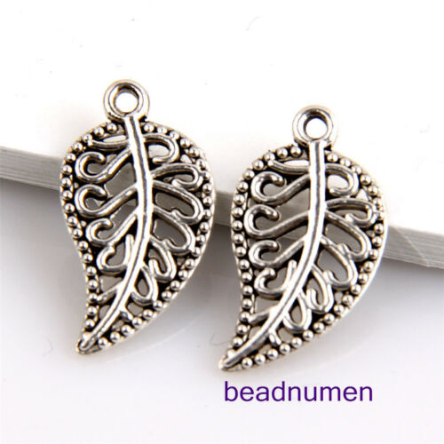30Pcs Crafted Hollow Leaf Design Charms Pendentifs notamment jewery Making 1A45