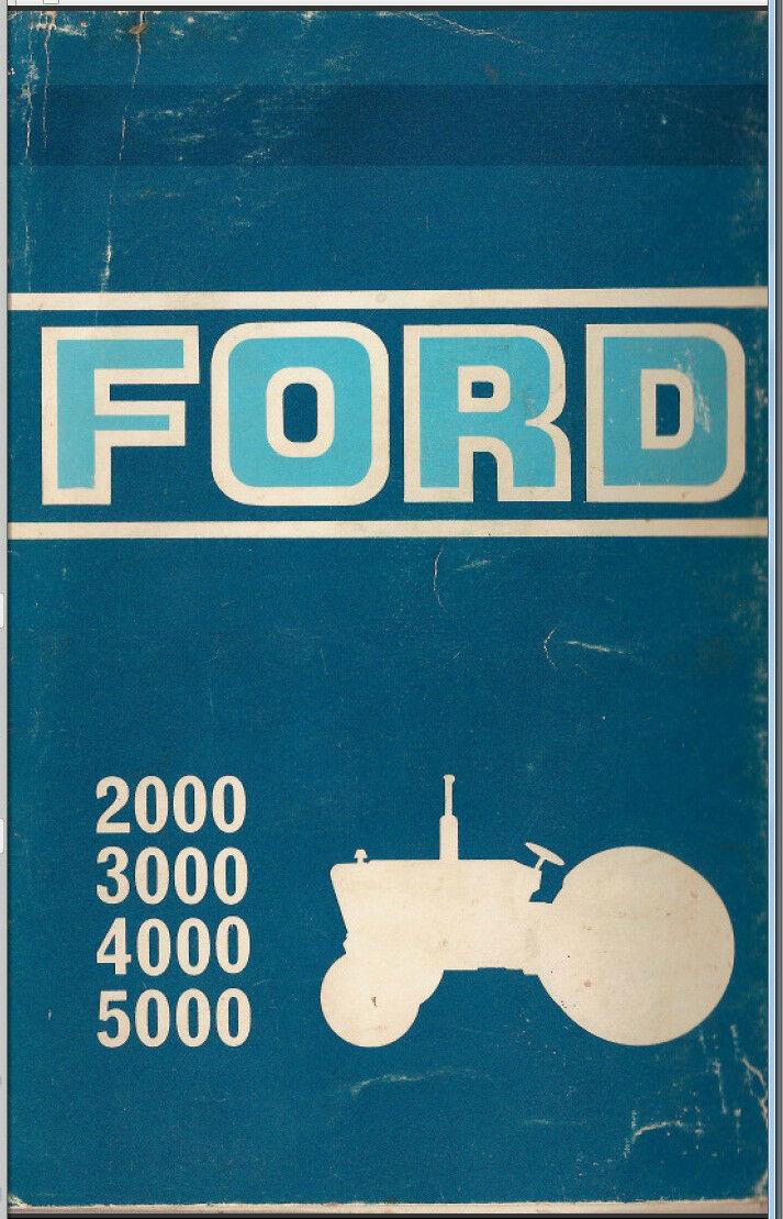 ford tractor service manual 1965 1975 series 2000 3000 4000 7000 pdf rh ebay com Ford 3000 Tractor Schematics ford 3000 tractor service manual download
