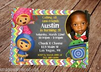 Team Umizoomi Invitation With Free Thank You Card (digital Files Only)