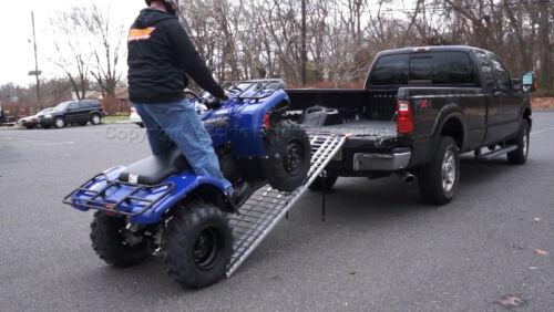"7/' x 40/"" Five Star Mfg Aluminum Folding Ramp USA 740DR ATV//Snow Blower Ramp"