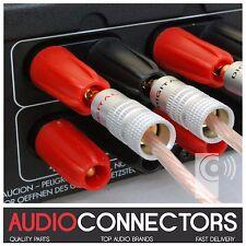 4 x Hi-Fi 4mm BFA-Z Connettori a Banana Speaker & Amplificatore Cavo Connettori (bz2)