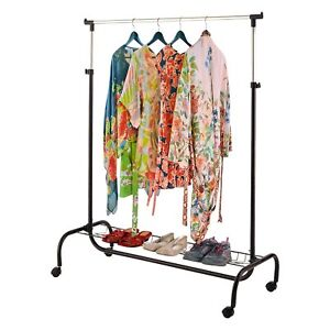 Image Is Loading 2 In 1 Portable Clothes Garment Hanging Rail