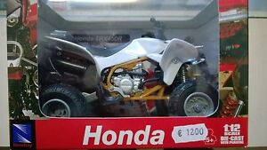 NEW-RAY-1-12-MOTO-DIE-CAST-HONDA-TRX-450-R-BIANCA-ART-57503