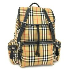 item 3 New BURBERRY Vintage Check Large XL Antique Yellow Cotton Leather  Backpack  q-92 -New BURBERRY Vintage Check Large XL Antique Yellow Cotton  Leather ... e57cfb769b5f7