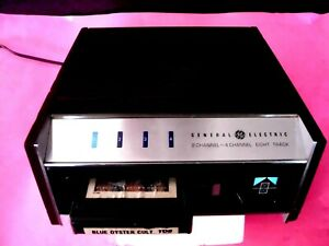 8 TRACK PLAYER G.E TA-400 QUAD PLAYS BOTH 2 / 4 CHANNEL TECH SERVICED WORKING PE
