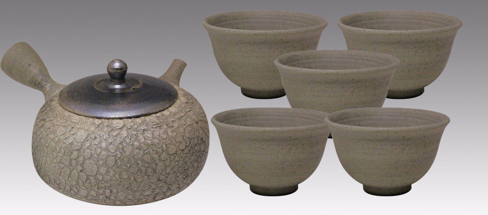 Japonais Kyusu teaset-jusen-boue moussant 1pot & 5 chawan Cups
