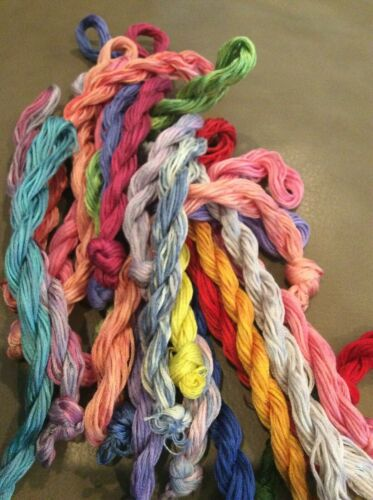 Free Shipping Grab Bag of 10 Large Skeins of Overdyed//Handpainted Floss
