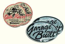 SET 2x Garage Built, 2x Cafe Racer Sticker Yamaha, Honda, Kawasaki, Suzuki, BMW