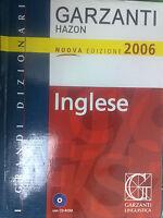 DIZIONARIO INGLESE ITALIANO ITALIANO INGLESE HAZON GARZANTI FORMATO GRANDE + CD
