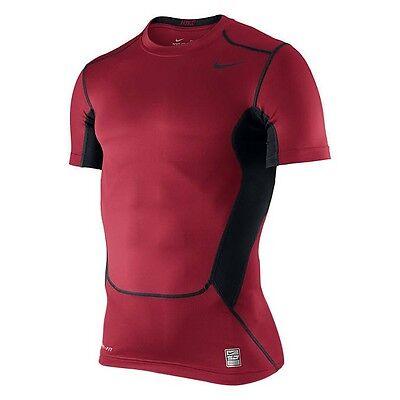 Nike Hypercool Compression 2.0 Top II Tshirt T-shirt NEW red black 449838-653