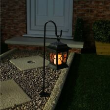 OUTDOOR SOLAR POWERED LED HANGING FLICKERING COACH LANTERN CANDLE LAMP LIGHT