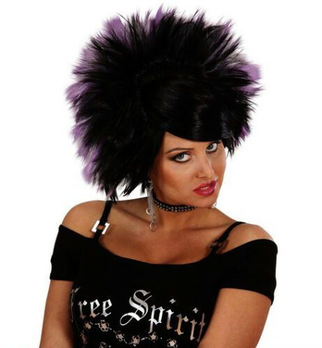 Mesdames Punk Rock Princesse Goth Cyber Emo perruque DIVA Chick années 80 90 robe fantaisie