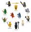LEGO-NINJAGO-SET-ZANE-COLE-NYA-KAI-JAY-GOLDEN-LLOYD-WU-GARMADON-HARUMI-SAMURAI-X thumbnail 1