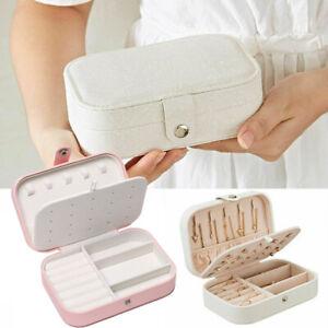 Luxury-Women-Earring-Storage-Case-Necklace-Organizer-PU-Leather-Jewelry-Boxes