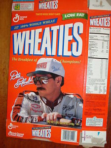 Dale Earnhardt Wheaties 18 oz. Cereal Box from 1997, Very Good Condition
