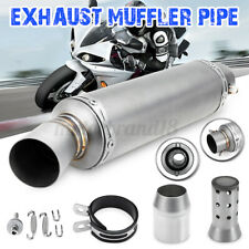 wetoto Universal 38-51mm Motorcycle Dual Outlet Exhaust Muffler Tail Pipe Tip Dirt Bike