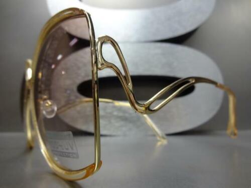 OVERSIZED Upscale LUXURY Fashion RETRO Style SUNGLASSES Huge Jumbo Gold Frame