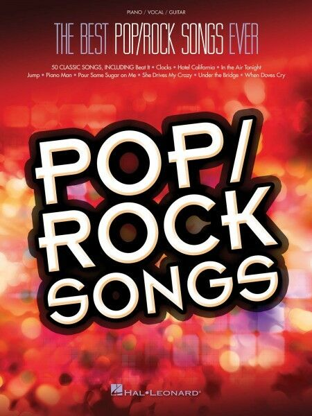 Best Poprock Songs Ever Piano Sheet Music Guitar Chords 50 Classics
