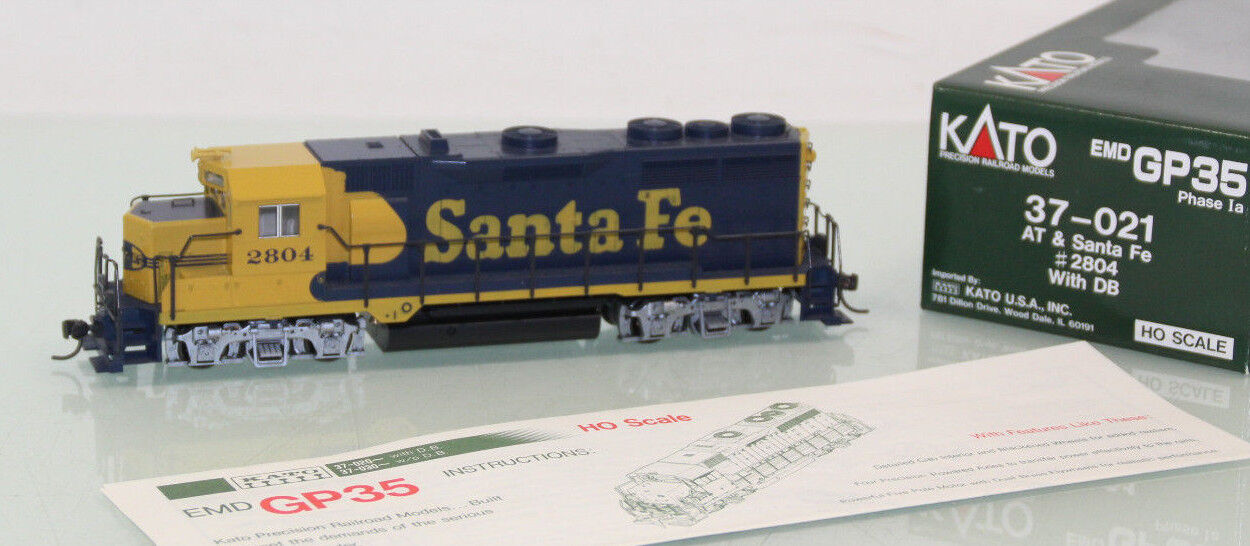 Kato h0 37-021 us diesellok EMD gp35 phase I at & Santa Fe en embalaje original (sl349)