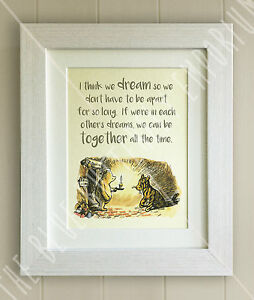 Image Is Loading Winnie The Pooh Framed Quote Print Baby Birth