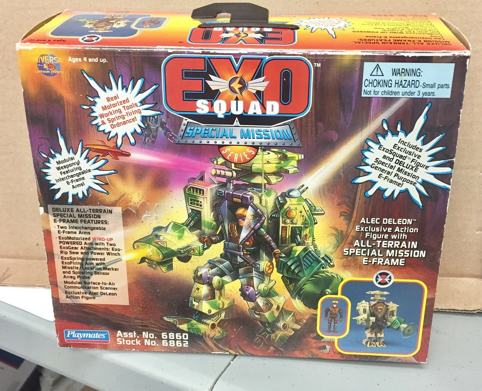 Playmates Exo Squad Exosquad Special Mission Alec Deleon E-Frame With Box
