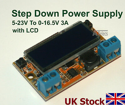 Step Down Power Supply 5-23V To 0-16.5V 3A With onboard LCD  step-down buck - UK