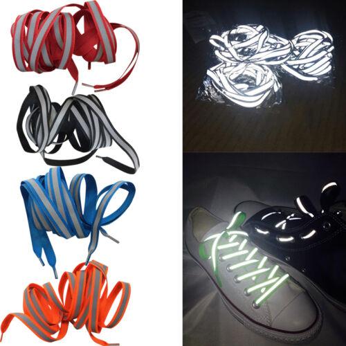 LED Luminous Light Up Glow Nylon Strap Shoelace Shoe Laces Party Fast