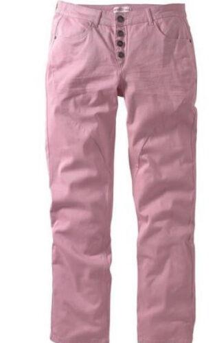Sheego Boyfriend Pantalon ROSA sommerhose Boutons longgr .112 116