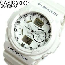 CASIO G-SHOCK, GA150-7A GA-150-7A, ANALOG DIGITAL, MAGNETIC RESIST, MATTE WHITE