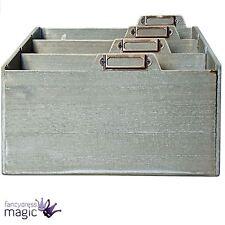 Gisela Graham Grau Wasch Box Für Briefe Regal Home E-mail Büro Lager Organiser