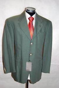 Green Laack Single Plain Mint Lino 50 Jacket Moda Size Breasted Van URx6Y77