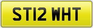 STI-WRX-SUBARU-IMPREZA-SERIES-WHITE-REG-NUMBER-PLATE-ST12-WHT-FEES-PAID-SCOOBY