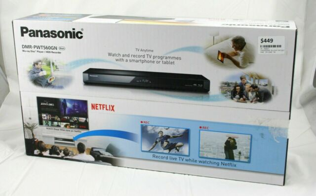 Panasonic DMR-PWT560GN Smart 3D Blu Ray Player 500GB Twin HD Tuner Recorder
