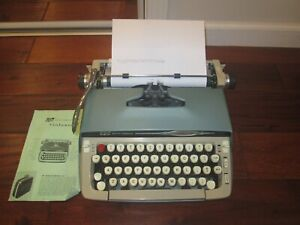 1960s Smith Corona Galaxie II Manual Typewriter w/ Manual Works Great