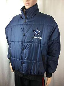 wholesale dealer 01110 970f3 Details about vintage PRO PLAYER DALLAS COWBOYS reversible  puffer/parka/jacket NFL . men's L