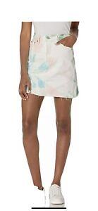 Levi's Womens Skirts White Size 26 A-Line Denim High-Waist Raw-Hem $79 689