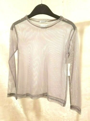 Blue Bear Blouse Top Teen Girls Junior Clothing Sheer Gray Color Size 10 16 18