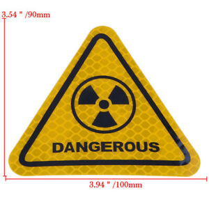 New-Car-Safety-Reflective-Dangerous-Sign-Warning-Mark-Caution-Sticker-Decal-Tape