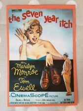 80s Postcard - Marilyn Monroe 1955 Seven Year Itch poster with shoes CP