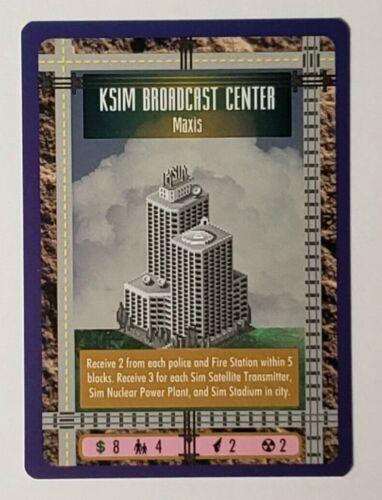 SIM CITY CCG KSIM BROADCAST CENTER PROMO CARD