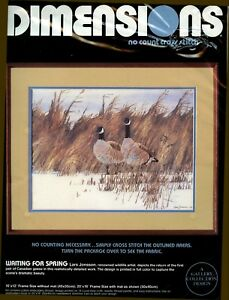 Dimensions-No-Count-Cross-Stitch-Kit-Waiting-For-Spring-3626-Lars-Jonsson-New