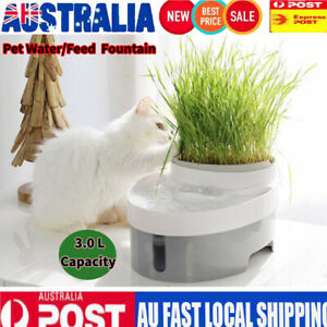 Pet-Drinking-Water-Food-Feeder-Fountain-Electric-Cat-Dog-Automatic-Bowl-Filter