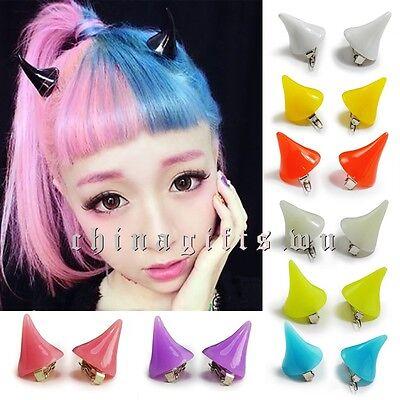 Hot Horror Cosplay Little Devil Fluorescent Horns Hairpin Hair Clip Accessories