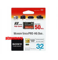 Genuine Sony 32gb 32g Memory Stick Pro Duo Hg Hx 50mb/s Mark Ii For Psp Retail