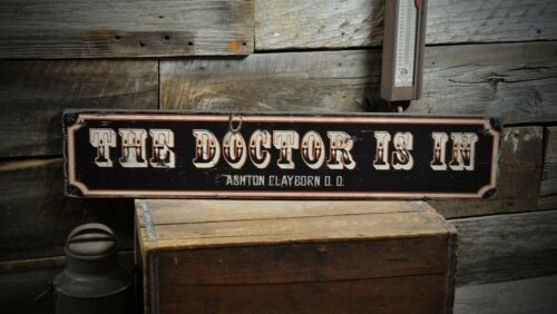 Rustic Hand Made Vintage Wood Sign ENS1000320 Custom The Doctor Is In City Sign