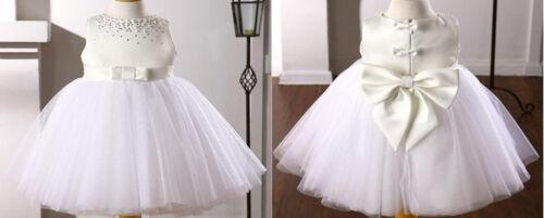 FLOWER Girl Dress Farfalla Bianco UK STOCK